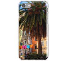 Washing Lines in Corfu Town iPhone Case/Skin