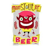 monSTOUTer beer label by Marcelo Badari