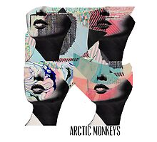 Arctic Monekys Artwork T-Shirt by thearchofroses