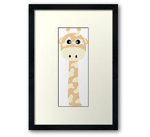 Cute giraffe Framed Print