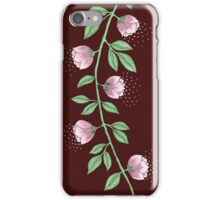 Pink Flower Vine iPhone Case/Skin