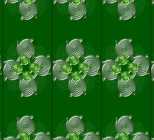 Green Abstract  pattern  3003 Views) by aldona