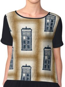 Filigree TARDIS Paper Chiffon Top