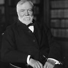 Andrew Carnegie Seated In A Library  by warishellstore