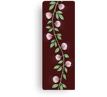 Pink Flower Vine Canvas Print
