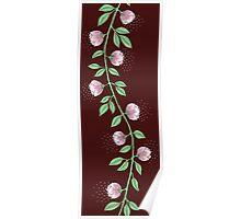 Pink Flower Vine Poster