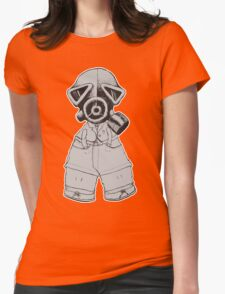 Gas Mask Boy Womens Fitted T-Shirt