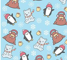 Cute Winter Pattern  by Adriana Cruz Berdecia