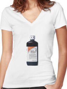 Prometh with Codeine Women's Fitted V-Neck T-Shirt