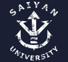 Saiyan university white by Karl Angas