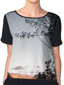New England Sunset Through The Viewfinder (TTV) Women's Chiffon Top