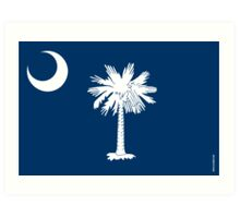 South Carolina State Flag Art Print