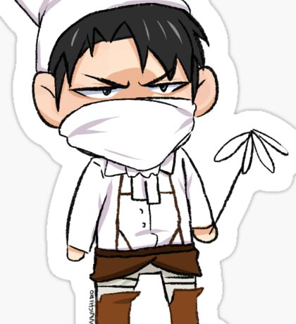 Cleaning Rivaille Sticker