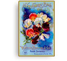 """""""W. ATLEE BURPEE"""" Sweet Peas Advertising Print Canvas Print"""