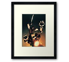 Ninja Vs. robot Framed Print