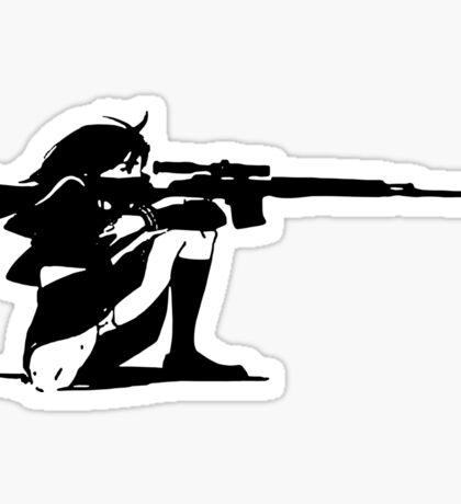 Sniper Girl Decal Sticker