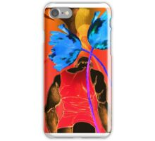 Man in Orange Blue Tulips iPhone Case/Skin