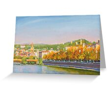 The Adige River in Verona, Italy Greeting Card