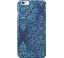 Aqua, Cobalt Blue & Purple Protea Doodle Pattern iPhone Case/Skin