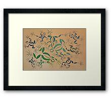 Frogs Horizontal Framed Print