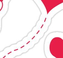 Heart Balloons Sticker