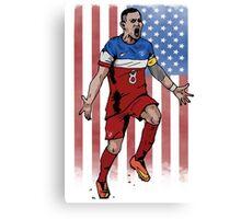 Dempsey USA flag Canvas Print