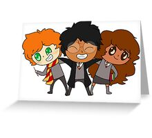 Golden Trio Greeting Card