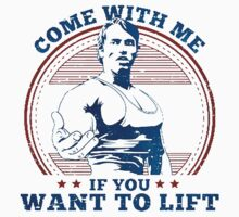 come with me if you want to lift Kids Tee
