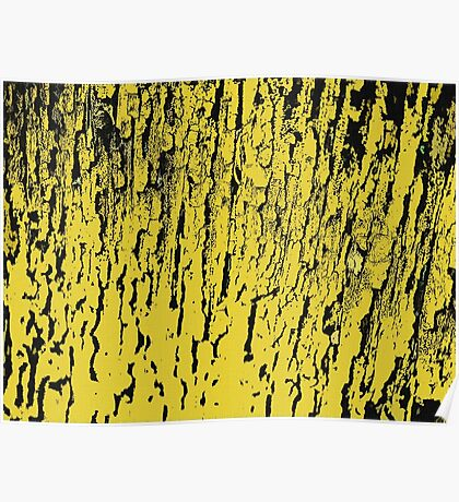 Old tree in yellow, pattern Poster