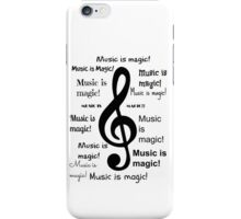 Music is magic all over iPhone Case/Skin