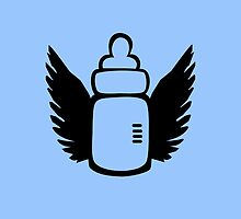 Angel Baby bottle by ilovecotton