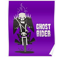 Ghost Rider Vector Art Poster