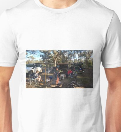 Camp site, Photo by Nick Unisex T-Shirt