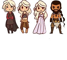 Drogo and Danys  by Lou  Wilson