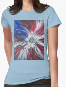 Starburst Flag Womens Fitted T-Shirt