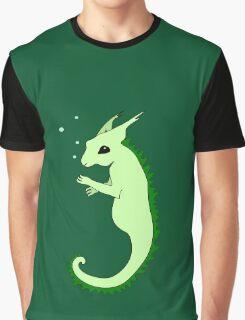 Fantasy Cartoon Sea Squirrel Graphic T-Shirt