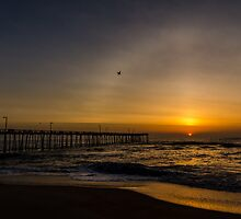solar halo sunrise avalon pier kill devil hills, nc by johnlackphoto