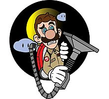 Luigi a Ghost buster Photographic Print