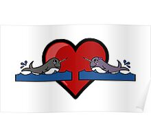 Narwhal Couple Poster