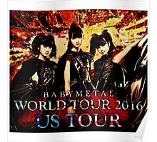 us tour - babymetal world tou 2016 Poster