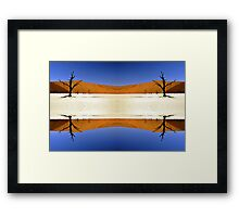 Desert Stripes Framed Print