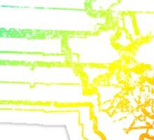 massachusetts chill blur Sticker