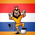 Orange lion soccer hero by cardvibes