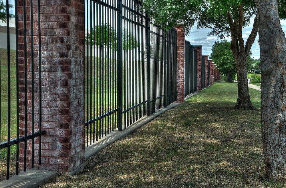 Wrought Iron Fence  by John  Kapusta