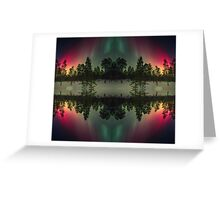 Stripes of northern lights Greeting Card