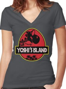 Yoshi's Island (Filled) Women's Fitted V-Neck T-Shirt