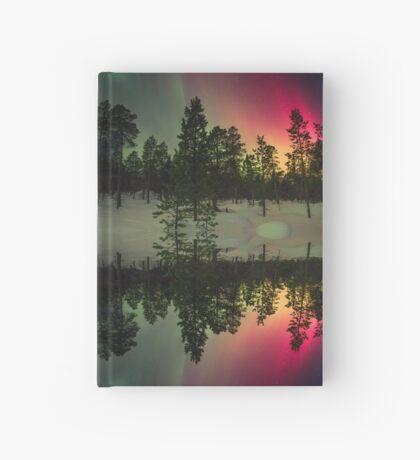 Stripes of northern lights Hardcover Journal