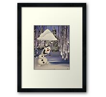 Frozen Concept Art | Olaf's Flurry  Framed Print