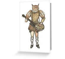 Banjo Cat Greeting Card