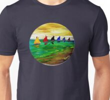 Boats In A Row Unisex T-Shirt